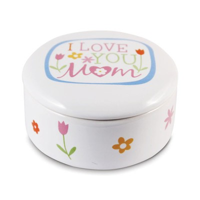 I Love You Mom Trinket Box  -