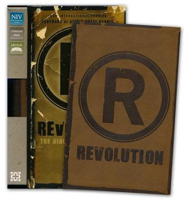 NIV Revolution: The Bible for Teen Guys: Updated Edition, Italian Duo-Tone, Brown - Slightly Imperfect  -