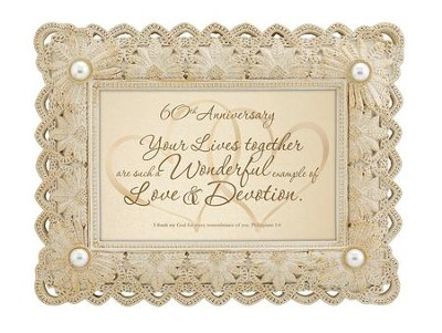 60th Anniversary, Philippians 1:3 Framed Print  -