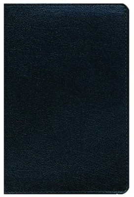 NIV Thinline Zippered Collection Bible, Compact, Bonded Leather, Black  -
