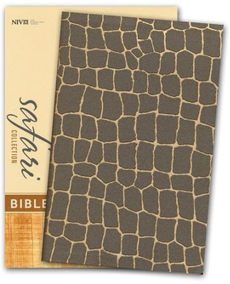 NIV Safari Collection Bible, Flexcover, Bonded Leather, Giraffe  -