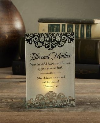 Blessed Mother, Tabletop Tealight  -