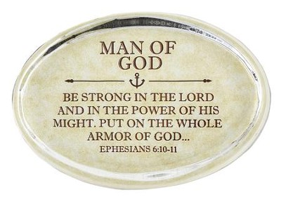 Man of God, Ephesians 6:10 Oval Paperweight   -