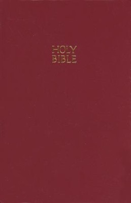 NKJV Pew Bible, Hardcover, Burgundy - Slightly Imperfect   -