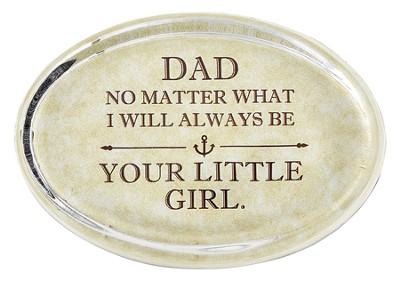 Daddy's Girl Glass Oval Paperweight   -
