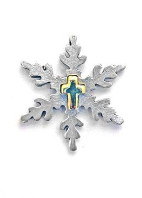 Snowflake with Cross Pin  -
