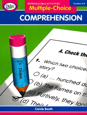 Multiple Choice Comprehension, Grades 4-5   -