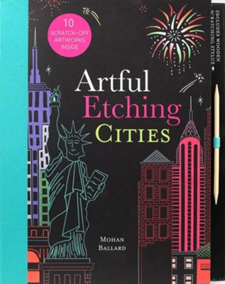 Artful Etching Scratch Art: Cities  -