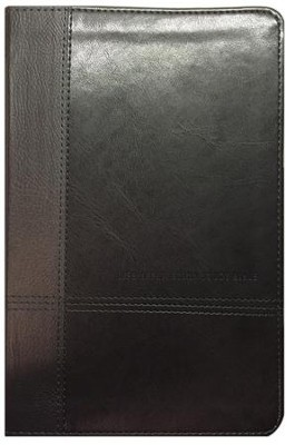 NIV: Life Application Study Bible, Personal Size TuTone Leatherlike Black/Onyx  -