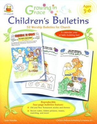 Growing in Grace Children's Bulletins Ages 3-6  -     By: Linda Standke