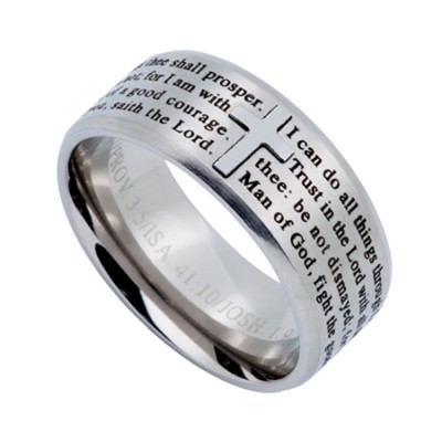 Proclamation Logos Men's Ring Silver, Size 14 (Assorted Verses)  -