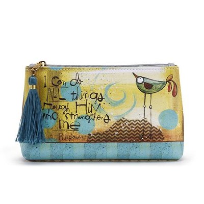 I Can Do All Things, Faith Cosmetic Pouch  -     By: Lynn Sanchelli