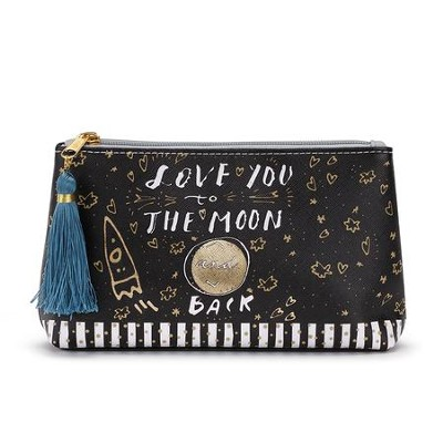 Love You to the Moon and Back, Always and Forever Cosmetic Pouch  -