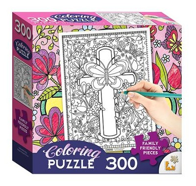 Cross Coloring Puzzle, 300 pieces  -