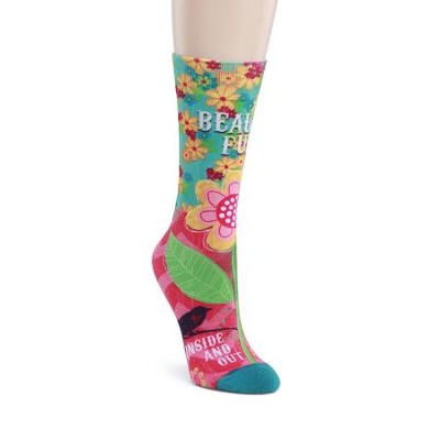 Beauti-Full Mid Calf Sock  -     By: Velvet Lime Girls