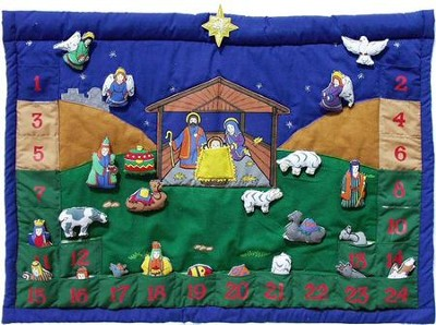 Nativity II Advent Fabric Calendar   -