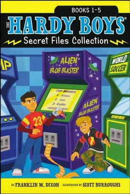 The Hardy Boys Secret Files Collection: Trouble at the Arcade; The Missing Mitt; Mystery Map; Hopping Mad; A Monster of a Mystery / Combined volume  -     By: Franklin W. Dixon     Illustrated By: Scott Burroughs