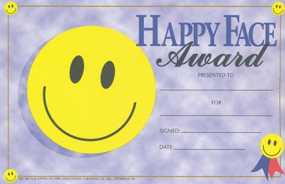 Happy Face Award (Pack of 25)   -