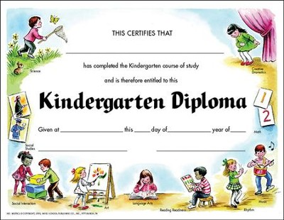 Kindergarten Diploma Set 1 (Pack of 30)   -