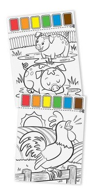 Paint with Water, Farm Animals  -
