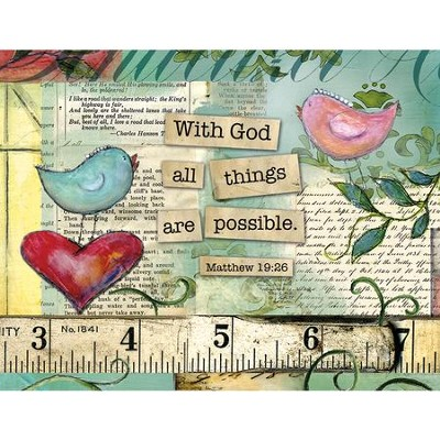 With God All Things Are Possible, Blank Note Cards  Box of 13  -     By: Lisa Kaus