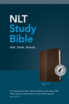 NLT Study Bible, TuTone, LeatherLike, Slate, With thumb index  -