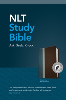 NLT Study Bible, TuTone, LeatherLike,Blue/Brown, With thumb index   -     By: Tyndale