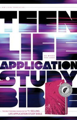 NLT Teen Life Application Study Bible, Pink Fields Indexed Leatherlike  -