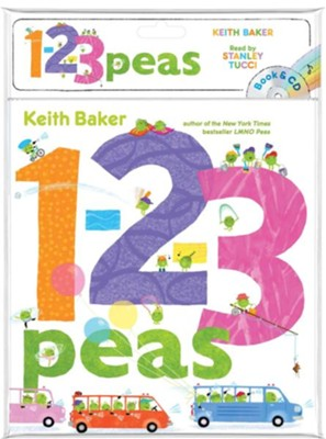 1-2-3 Peas  -     Narrated By: Stanley Tucci     By: Keith Baker     Illustrated By: Keith Baker