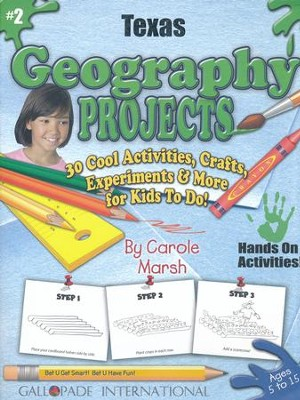 Texas Geography Project Book, Grades 3-8  -     By: Carole Marsh