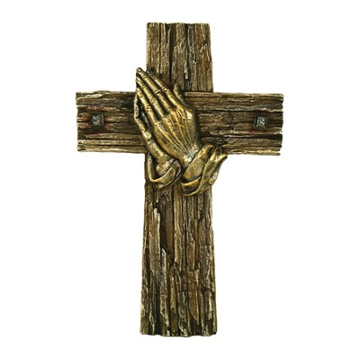 Praying Hands Wall Cross  -