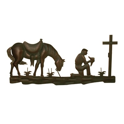 Praying Cowboy and Horse Figure  -