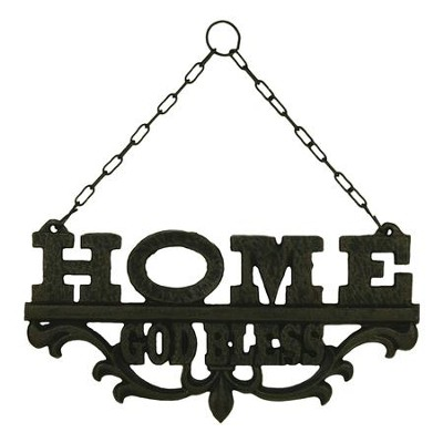 Home, God Bless, Cast Iron Wall Art  -