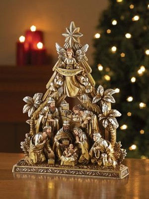 Metallic Nativity Figurine  -