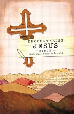 NIV Encountering Jesus Bible: Jesus Revealed Throughout the Bible, Hardcover, Jacketed Printed  -