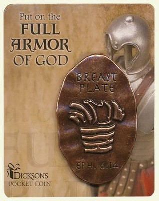 Full Armor of God Pocket Stone, Breastplate  -