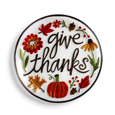 Give Thanks Round Platter  -