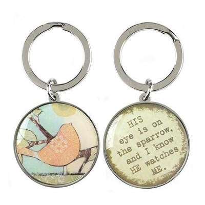 His Eye Is On the Sparrow Keyring  -     By: Terri Conrad