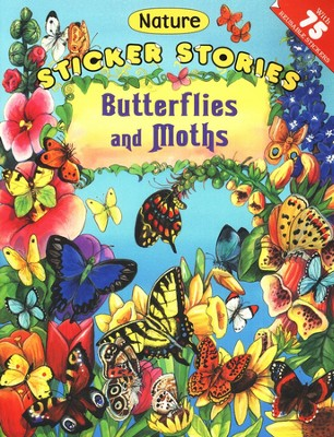 Butterflies And Moths Nature Sticker Stories  -     By: Roberta Collier-Morales
