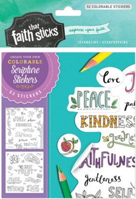 Galatians 5:22-23 Colorable Stickers  -     By: Tyndale