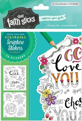 1 Thessalonians 1:4 Colorable Stickers  -     By: Tyndale
