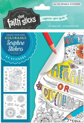 Joshua 1:9 Colorable Stickers  -     By: Tyndale