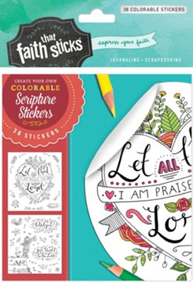 Psalm 103:2 Colorable Stickers  -     By: Tyndale