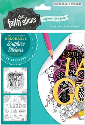 Psalm 46:10 Colorable Stickers  -     By: Tyndale