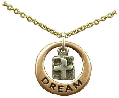 Dream, Tri-Tone Infinity Necklace  -