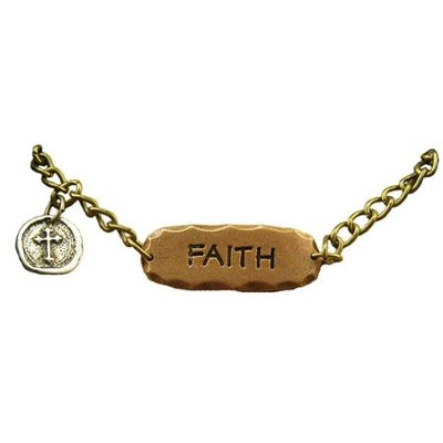 Faith, Tri-Tone Necklace  -