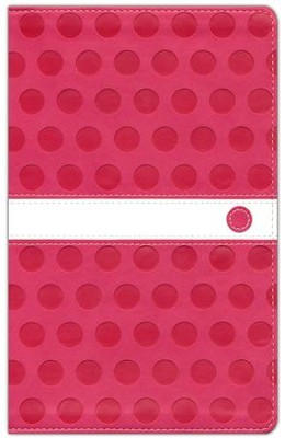 NIV ReadEasy Bible, Compact, Italian Duo-Tone, Hot Pink - Imperfectly Imprinted Bibles  -