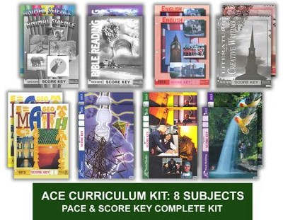 ACE Comprehensive Curriculum (8 Subjects), Single Student Complete PACE & Score Keys Kit, Grade 2, 3rd Edition (with 4th Edition Science & Social Studies)  -