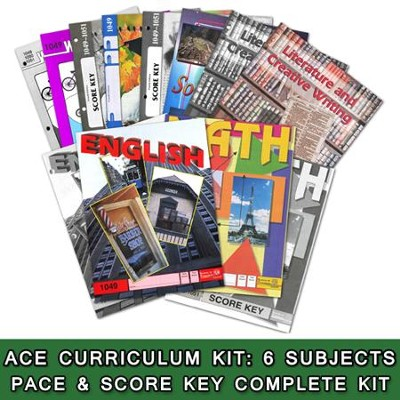 ACE Comprehensive Curriculum (6 Subjects), Single Student Complete PACE & Score Key Kit, Grade 5, 3rd Edition (with 4th Edition Social Studies)  -