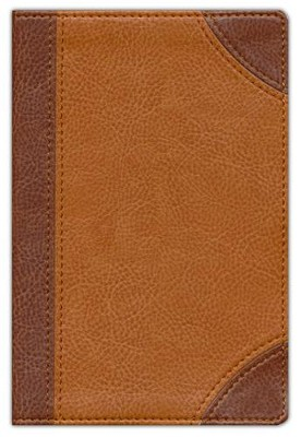 NIV Pocket Bible, Italian Duo-Tone, Dark Caramel/Caramel  -